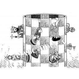 Cilinderschaak 60 x 40 cm